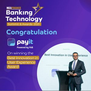 payit celebrates Best Innovation in User Experience Award